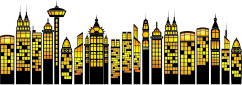 building,architecture,silhouette,cityscape,skyline,highrise,stylised