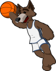 wolf,basketball,anthropomorph,animal. cartoon,sport,ball