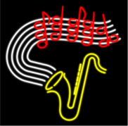music,neon,sign,light,bar,song,note,score,sax,saxophone