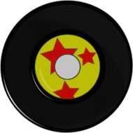 vintage,record,45,music,retro,yellow,red,black,vinyl,vintage,image,clipart,inkscape,svg,png