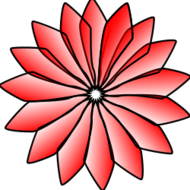 red flower,flower,ak student,red flower,clipart