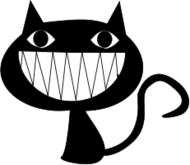 cat smile,black cat,cat,animal,smile,cartoon,ak student,clipart