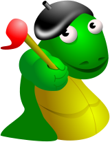 french,artist,artistic,artsy,art,paint,paintbrush,dragon,cartoon,bourree,lizard,monster,reptile,french