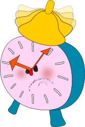 alarm-clock,morning,cartoon,get up,ringing,vector,clip art,angry,time,laziness