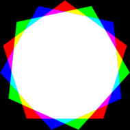 pentadecagon,red,green,blue,color,mixing,mix