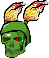 skull,flame,green,totenkopf,flammen,helloween,bone,fire,death