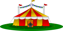 circus,tent,tarpaulin,funny,fun,play,entertainment,clown,juggle,trapeze,grass