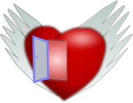 heart,valentine,love,flight,wing,door,open,flying,happiness,happy,red
