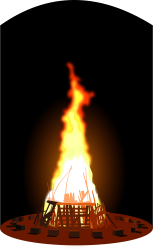 bonfire,fire,flame,hot,burn,stick,wood,party,celebration,warm,light,music,night,stick,photorealistic