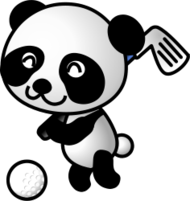 golf,panda,golf ball,sport,animal,cartoon