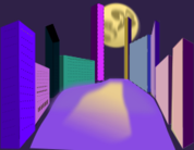 night,moon walk,city,town,street