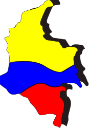 geography,southamerica,colombia,columbia,flag,map,outline,shape