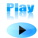 glossy,play,button