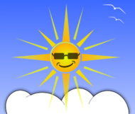 weather,cloud,sun,happy,face,smile,sunshine,sunglasses,cool,summer,bird