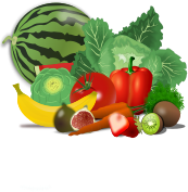 fruit,vegetable,veggie,food,healthy,set,group,watermelon,cut,cabbage,artichoke,banana,tomato,carrot,fig,strawberry,berry,red pepper,pepper,kiwi,health,eat,eating,summer,fruit,vegetable,veggie,berry