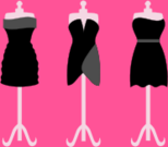 black,dress,clothing,gown,outfit,fashion,mannequin,dummy,style,prom