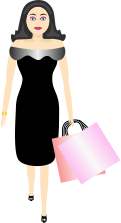 shopping,clothes,fashion,glamour,walking,dress,black,style,purchase,sale,beauty,makeup,bag,woman,shopping,bag,woman