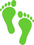 foot print,footprint,green footprint
