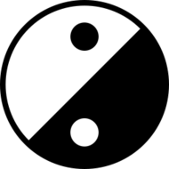 yin,yang,icon,modern,simple,abstract,black and white