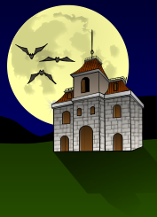house,haunted,bat,moon,night,darkness,fear,danger,ghost,halloween,scary,bat,ghost