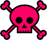 skull,crossbones,bone,halloween,pink,poison,kawaii,punk,girly,bone,halloween