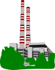 conventional power electricity-generating electrical station