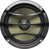 audio,sub,speaker,subwoofer,metal,electronics,grey,pale,yellow,silver,shiny,music,photorealistic