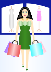 retail,shopping,woman,dress,clothes,purchase,bag,sale,mall,gift,green