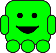 robot smile green wheel,robot smile green wheel