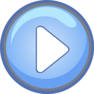 round,blue,button,triangle,pressed,down,circle,light,play,go,right,arrow