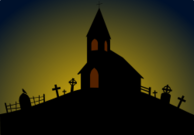 church,cross,gravestone,halloween,svg,clipart