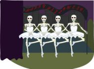 halloween,skeleton,swan lake,ballet,dancing,halloween
