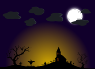 church,cross,gravestone,halloween,cloud,grass,moon,svg,clipart