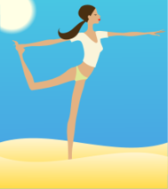 woman,stretching,exercise,beach,sun,sand,sea,ocean,sky