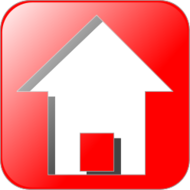 icon,house,real estate,glossy,red