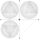 geometry,parallel projection,constrution,geodesic sphere,circumscribed sphere
