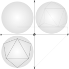 geometry,1/4 net geodesic sphere