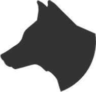 dog head profile silhouette