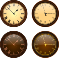 clock,time,hour,minute,second,old,analogic,mechanic,old fashioned,brown,roman numeral,gold,yellow,black,clock,minute,second,roman numeral