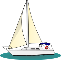 boat at sea clip art