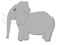 animal,elephant,mammal,gray,grey