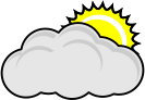 mostly cloudy,nuvem,sol