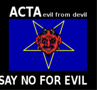 acta,censorship,internet,freedom,devil,evil