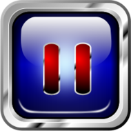 icon,blue,multimedia,pause