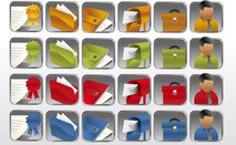 icon,collection,desktop,folder,office,bussines,card,mailbox,businessman,suitcase,briefcase,badge