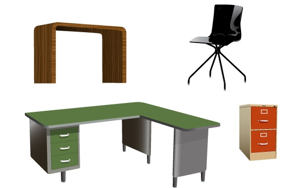 Office Furniture Vectors Clip Arts Free Clip Art