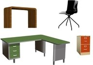 furniture,office,desk,retro