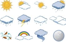 cloud,cloudy,moon,overcast,season,shower,snow,sun,sunny,temperature,thunder