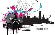 music,calendar 2011,foot,foot print,grunge,halftone,men,music vector,ornament,skyline,speaker,splatter,swirl
