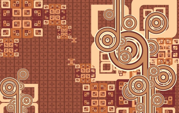 Cool Free Brown Vector Background
